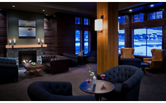 The lounge area at Nita Lake Lodge