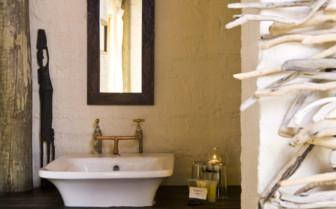 Bathroom at Desert Homestead, luxury hotel in Namibia