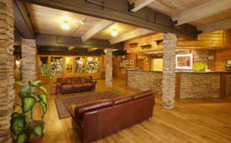 The lobby at Zion Lodge