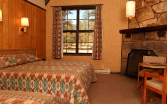Lodge bedroom at Bryce Canyon Lodge