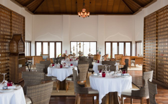 The restaurant at the hotel