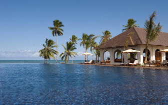 The swimming pool at The Residence Zanzibar