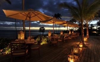 The dining area at The Residence Zanzibar, luxury hotel in Tanzania
