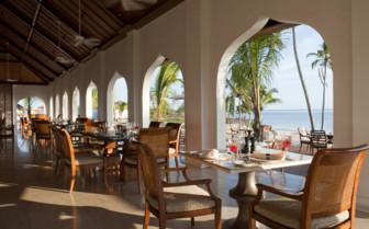 The dining area at The Residence Zanzibar
