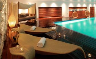Panoramic indoor pool at Hotel Adriana, luxury hotel in Croatia