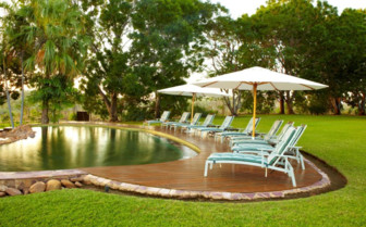 Homestead pool and sun seats