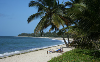 The beach at Tides Lodge, luxury hotel in Tanzania