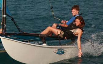 Picture of Guests Sailing a Catamaran at Soneva Fushi