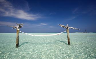 Picture of an Ocean Hammock at Gili Lankanfushi