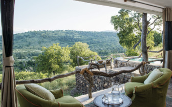 The view from the terrace at Baileys Banda