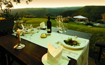 Outdoor dining at the hotel