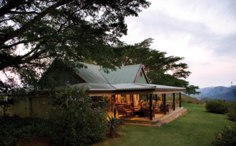 The exterior at Camp Figtree, luxury hotel in South Africa