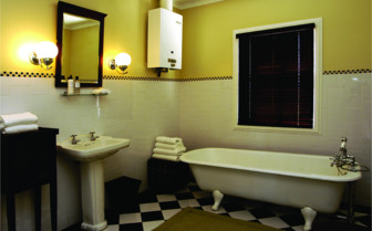 The bathroom at Camp Figtree