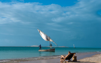 Picture of watching the local dhows at Azura Benguerra