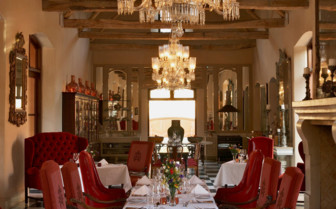 The dining room at La Residence hotel
