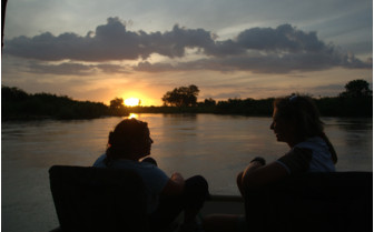 Evening boat safari at Impala Camp