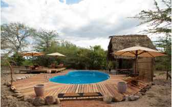 The swimming pool at Impala Camp