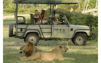 Watching wildlife at Lake Manze Tented Camp