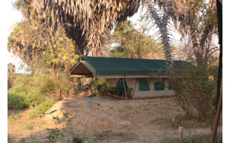 The exterior at Lake Manze Tented Camp, luxury camp in Tanzania