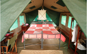 Interior at Lake Manze Tented Camps