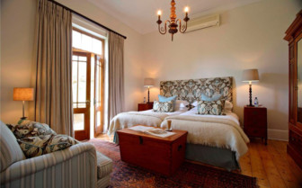 Double bedroom at Kwandwe Private Game Reserve, luxury safari lodge in South Africa