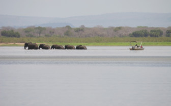 Boat cruise on the lake at Siwandu