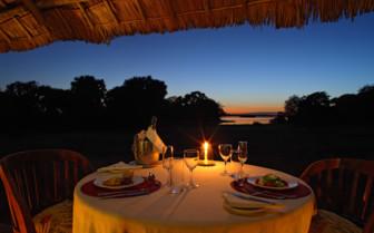 Private dinner on the veranda overlooking Lake Nzerakera