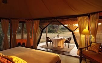 Interior of the tents at Siwandu