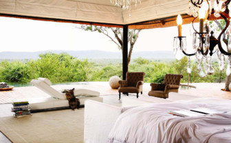 Stunning views from the lodge at Molori Safari Lodge