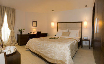 Double bedroom at Hotel Marmont, luxury hotel in Croatia