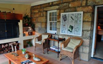 The terrace at Cleopatra Mountain Farmhouse hotel