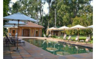 The pool at Hartford House hotel