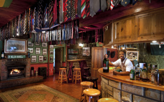 The bar at Oaklands Country Manor, luxury hotel in South Africa