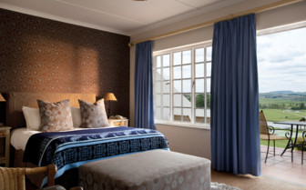 Bedroom with terrace at Oaklands Country Manor hotel