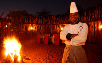 Boma dinner chef at the game reserve