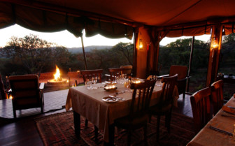 The dining tent at Thanda Private Game Reserve, luxury hotel in South Africa