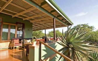 The verandah at Three Trees at Spioenkop, luxury hotel in South Africa