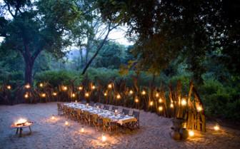 Outside dining at Lake Manyara Tree Lodge, luxury lodge in Tanzania