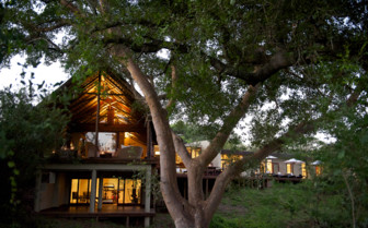 The lodge exterior at Lion Sands, luxury hotel in South Africa