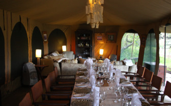 The dining area at Lemala Ngorongoro