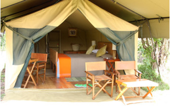 The tent interior at Lemala Ngorongoro, luxury tents in Tanzania