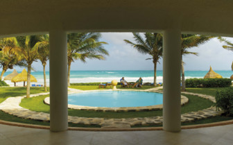 Pool with Sea views at the Belmond Maroma