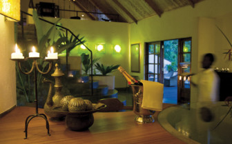 The entrance area at the lodge