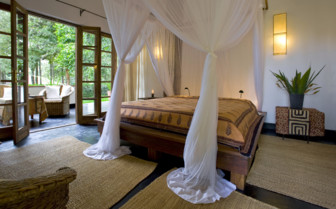 Double bedroom at Plantation Lodge, luxury lodge in Tanzania