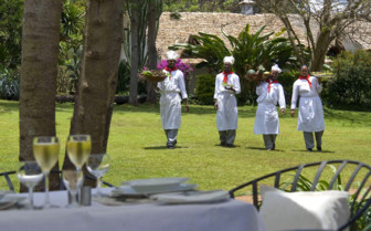 Chefs at the restaurant at Plantation Lodge