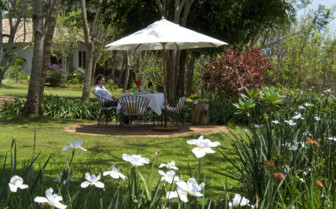 Terrace at Plantation Lodge, luxury lodge in Tanzania