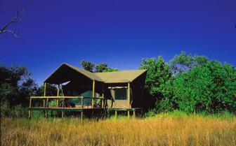 Tent at Lebala Camp, luxury camp in Botswana