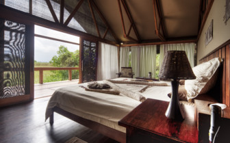 Bedroom with view at the camp