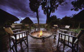 Bonfire at the camp