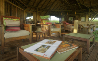 The main lounge at Lebala Camp